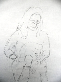 la grand-mère et sa petite fille